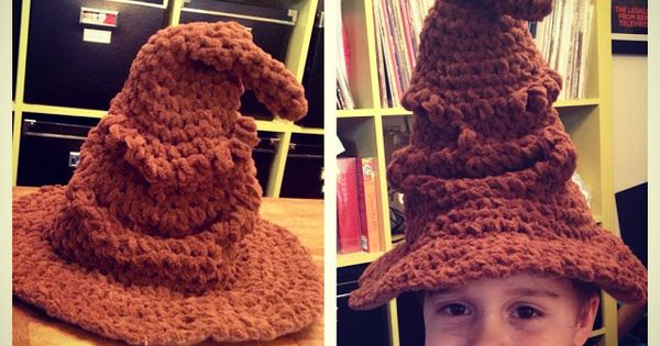 Check out this crochet version of the Hogwarts Sorting Hat ...