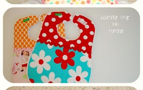 boutique style bib tutorial | lots of pink here! great for baby