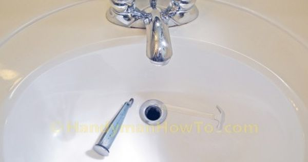 How To Replace A Pop Up Sink Drain Remove The Old Drain Sink Drain Stopper Pop Up Sink Drain Drain Repair