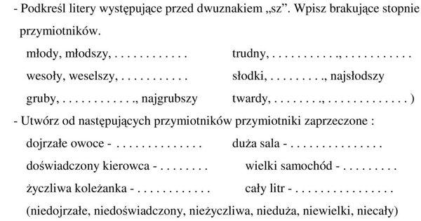 Znalezione Obrazy Dla Zapytania Cwiczenia Gramatyczne Karty Pracy
