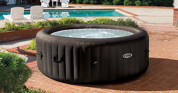 Intex Pure Spa 4 Person Inflatable Portable Jet Massage Heated Hot Tub 28421e Inflatable Hot Tubs Best Inflatable Hot Tub Hot Tub Reviews