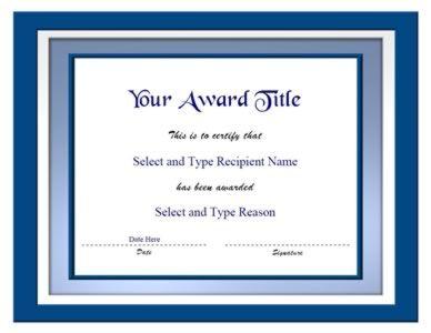 Blank Certificate Template Free Printable Certificate Blank