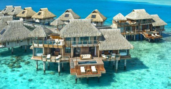 Oh my. My bucket list is growing... Hilton Bora Bora Nui Resort