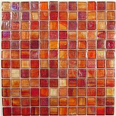 Dark Red Bathroom Google Search Orange Kitchen Red Backsplash Tile Backsplash