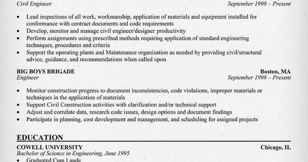 Civil Engineering Resume Sample (resumecompanion) For Him