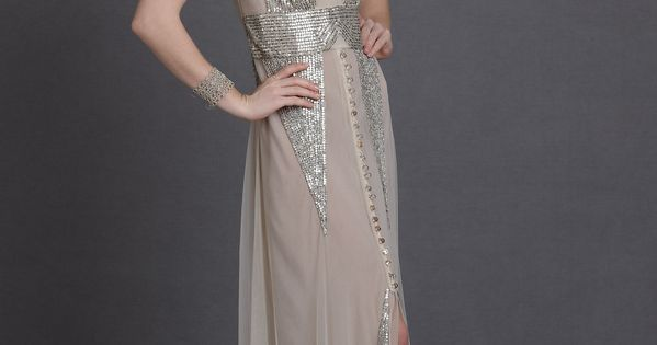 Aiguille Gown by Anna Sui (art deco arcs of sequins)