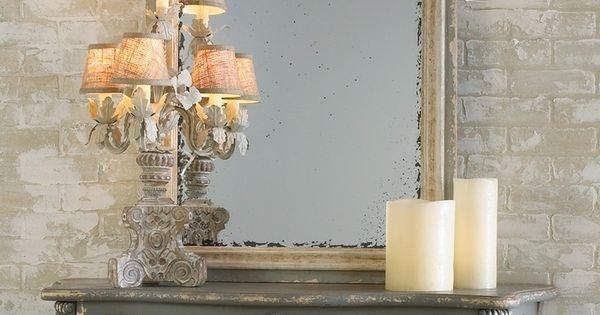 Leuk die lampen naast de spiegel idee voor de woonkamer pinterest spiegel lampen en spiegels - Idee gang ingang ...