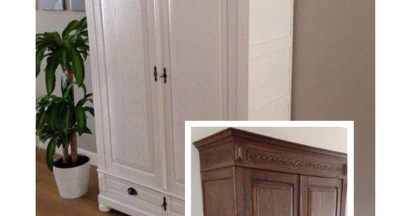 Voor en na gespoten in de meubelspuiterij metamorfose for Kast verven welke kleur
