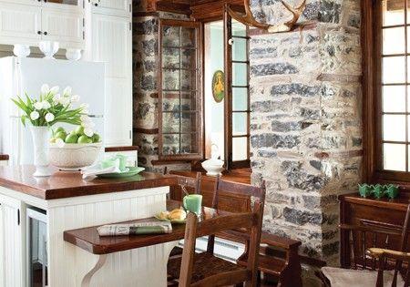Brick wall and wood floors