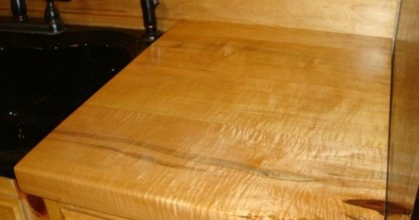 Curly Ambrosia Maple Kitchen Wood Counter Top Wood Countertops Countertops Wood Kitchen