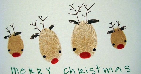 fingerprint xmas cards