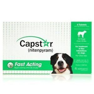Novartis Capstar Green For Dogs Over 25 Pounds 6 Tablets More Info Could Be Found At The Image Url Flea Control For Dogs Cat Fleas Frontline Plus For Cats