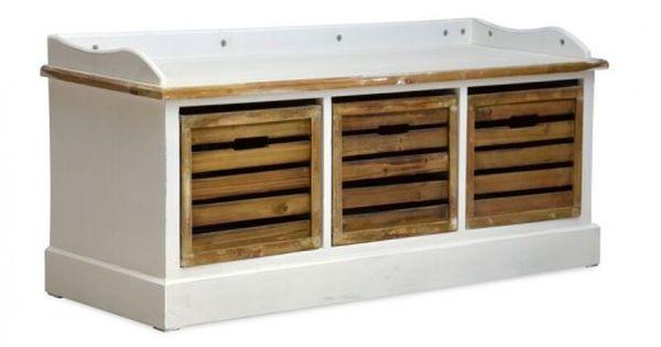 Sitzbank Burgund weiß massiv Holz Moebel Garten Holz Bank Stuhl - bank fürs badezimmer