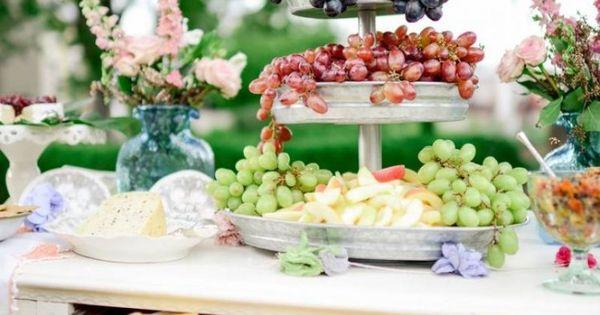 Organisation mariage en plein air en 25 idées originales  Buffet de ...