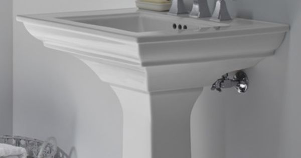 Memoirs Ceramic 25 Pedestal Bathroom Sink With Overflow Sink