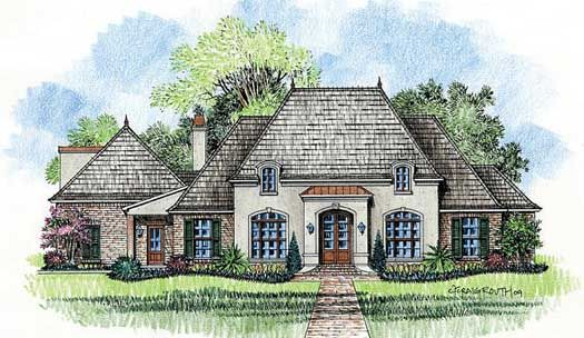 French country style house plans 3001 square foot home for French country garage plans