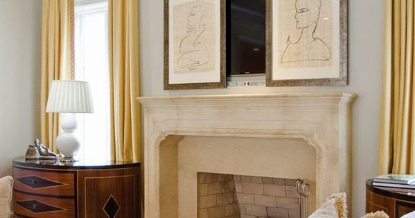 How To Hide Flat Screen Tv Above The Fireplace Art