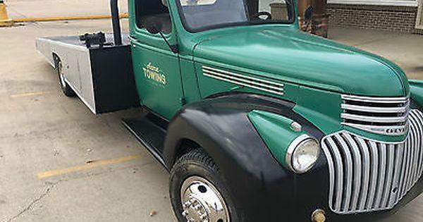 1946 Chevy Ramp Truck Car Hauler Wrecker Truck Flatbeds Cars