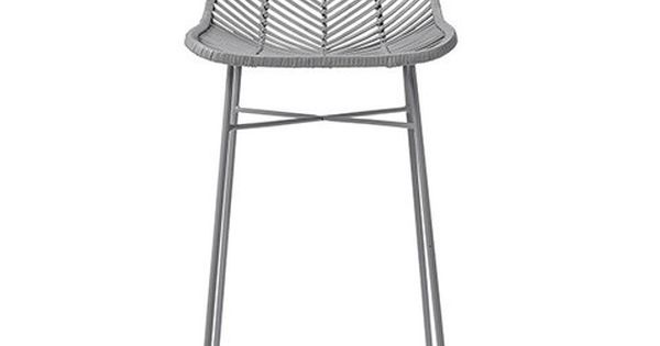 Light Grey Rattan Bar Stool Like Some You Pinned Good