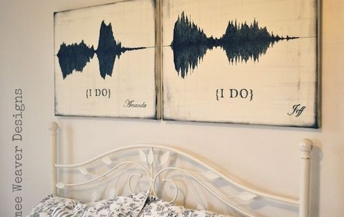 "Soundwaves of when they said 'I Do"" what a cool idea"