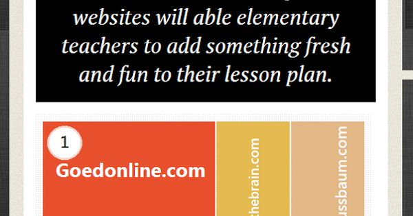 20 Great Websites For Elementary Educators - 20 best websites for elementary