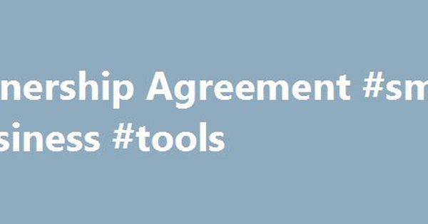 Partnership Agreement Small Business Tools HttpBusines