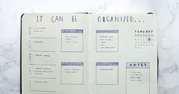easy bullet journaling nifty hacks pinterest kalender tagebuch und tagebuch schreiben. Black Bedroom Furniture Sets. Home Design Ideas