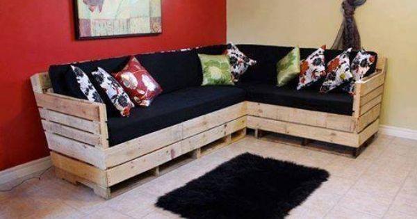 Muebles armados con estibas ideas creativas de estibas - Cosas hechas con palets ...