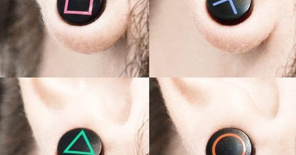 PlayStation Earrings, good for gamer girls.