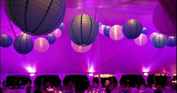 ... lampion papier  shaynas wedding  Pinterest  Mariage, LED and Deco