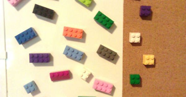 LEGO Magnets Push Pin LOT 12 Pieces School Office Favors | Gifts for ...