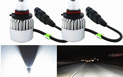 Alla Lighting 8000lm Xtremely Super Bright Hir2 9012 Led Headlight Bulbs Cob Xenon White High Power Mini Led 9012 Headlight Headlight Bulbs Led Headlights Led