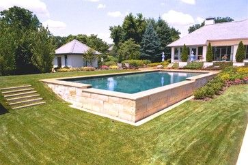 Pool Built Into Hill Design Ideas Pictures Remodel And Decor Backyard Pool Landscaping Building A Pool Sloped Backyard