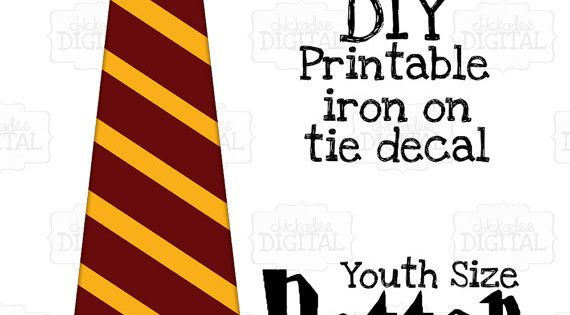1 harry potter tie gryffindor crest red and gold printable for Harry potter tie template