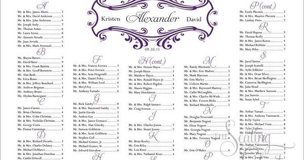 Image detail for Swirled Frame Wedding Seating Chart – Free Wedding Seating Chart Templates
