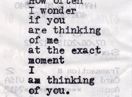 i wonder if you think of me quotes