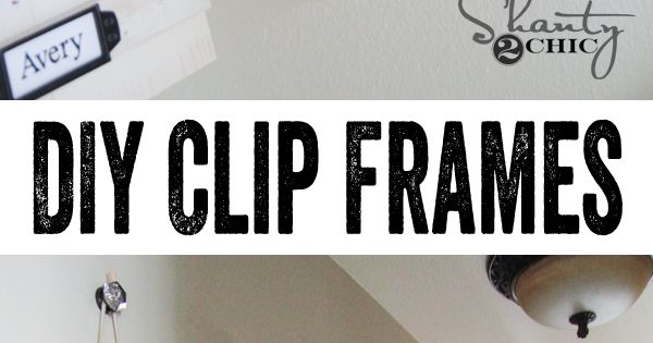 Simple Clip Frame Tutorial -- nice way to change out family pictures