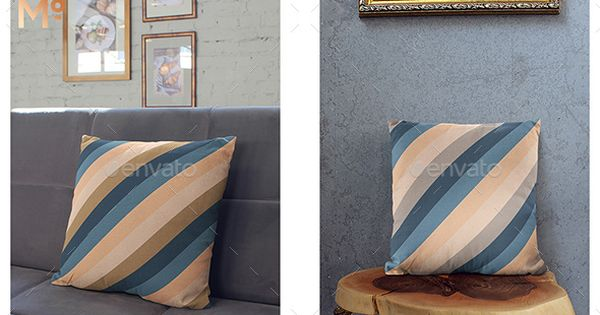 The Throw Pillow With Chairs Mock-up – Miscellaneous Product Mock-Ups
