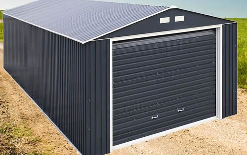 Duramax 12x20 Gray Metal Storage Garage Building Kit 50951 In 2020 Shed Building Plans Building A Shed Shed