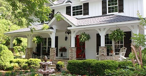 Come Fall In Love With My Porch A Blissful Spirit House Exterior House With Porch House Designs Exterior