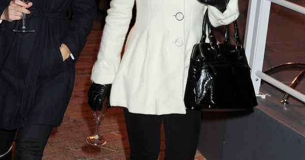 Pippa middleton, Black leather gloves and White coats on Pinterest