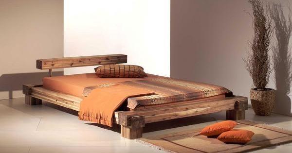Massivholzbett design  CALI Doppelbett / Massivholzbett Akazie massiv Akazie | möbel ...