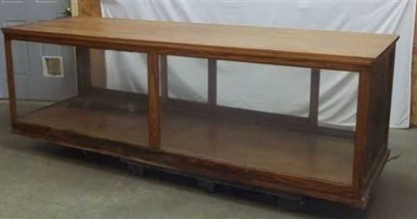 8 X 31 Oak Showcase Display Case Country Store Wood Counter