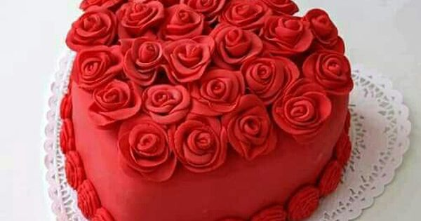Cake Heart Red صور كيك لون احمر Wow Cupcake Cakes Cake Decorating Valentines Day Cakes