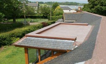 Seamless Roofing Permadeck Mansard Design Flat Roof Extension Flat Roof House Flat Roof