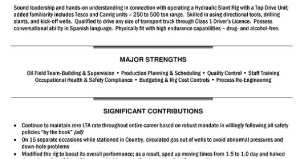 Great Oil Rig Resume Sample Images Gallery \u003e\u003e Myperfect Resume - Drill Rig Operator Sample Resume