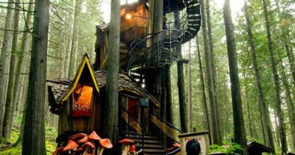 The Enchanted Forest in British Columbia. I wanna go! treehouses