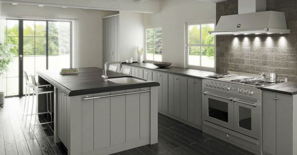 k che k che landhausstil wei modern steel standherde und k chenm bel cuisine new ideas. Black Bedroom Furniture Sets. Home Design Ideas