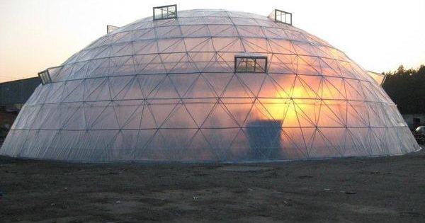 Geodesic dome greenhouse | Geodesic Domes | Pinterest ...