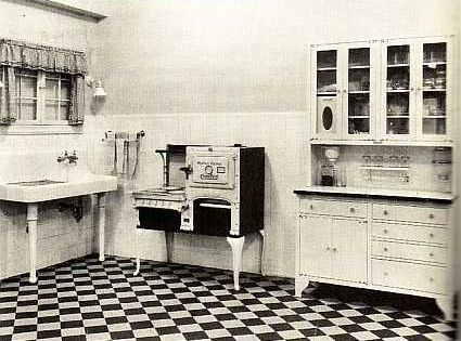 1920 kitchen floors and walls were off white butter for 1920 kitchen floor tile